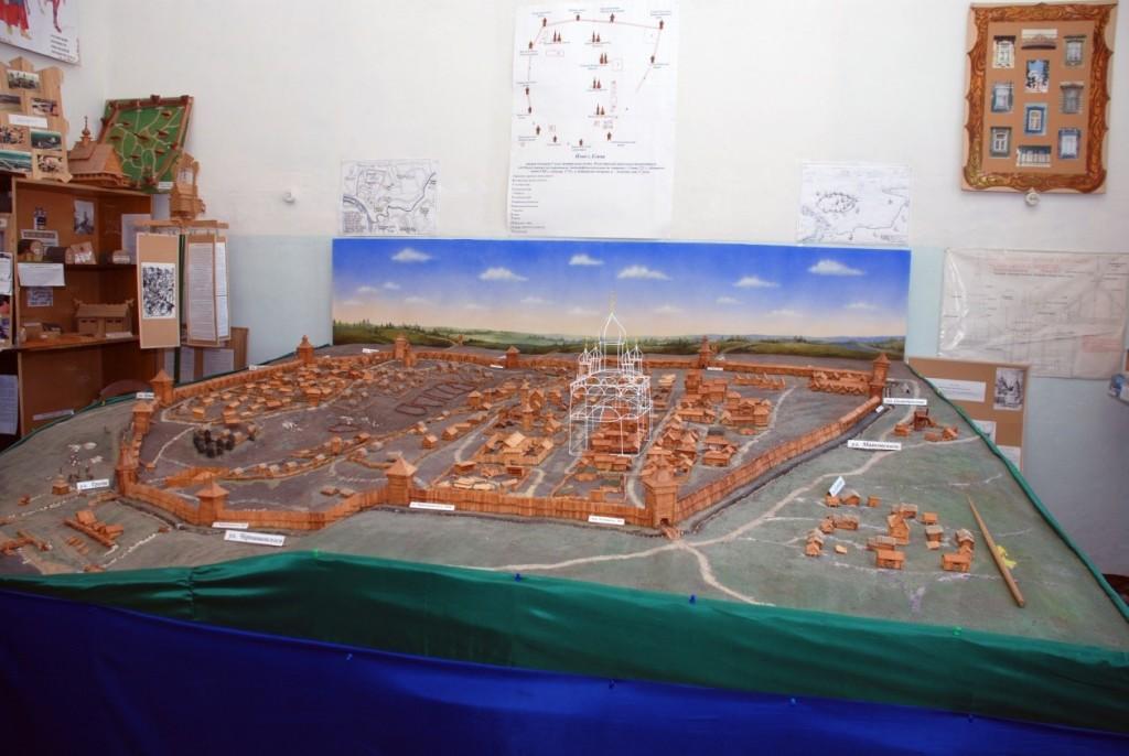 Макет Ельца – крепости второй половины XVII века