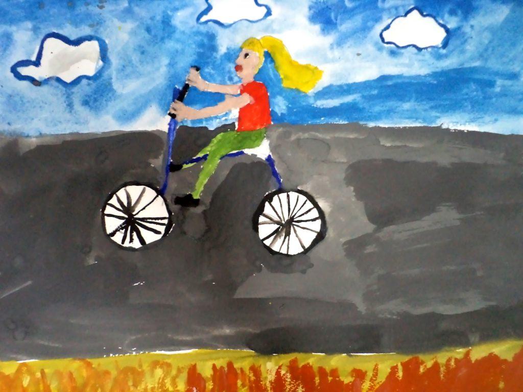 Матюхина Александра, 5 лет У меня новый велосипед!